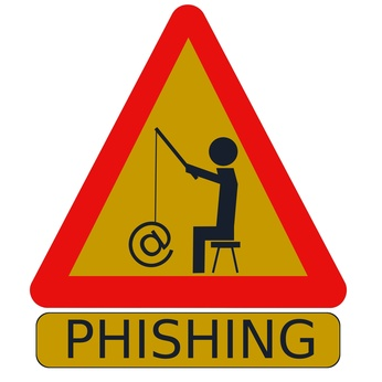 phishing panneau jaune