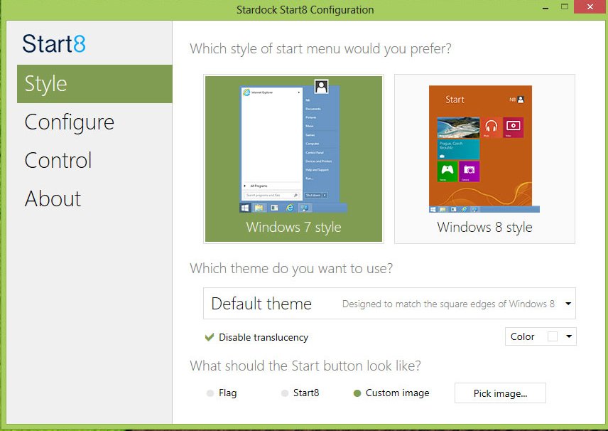 start menu application paid version