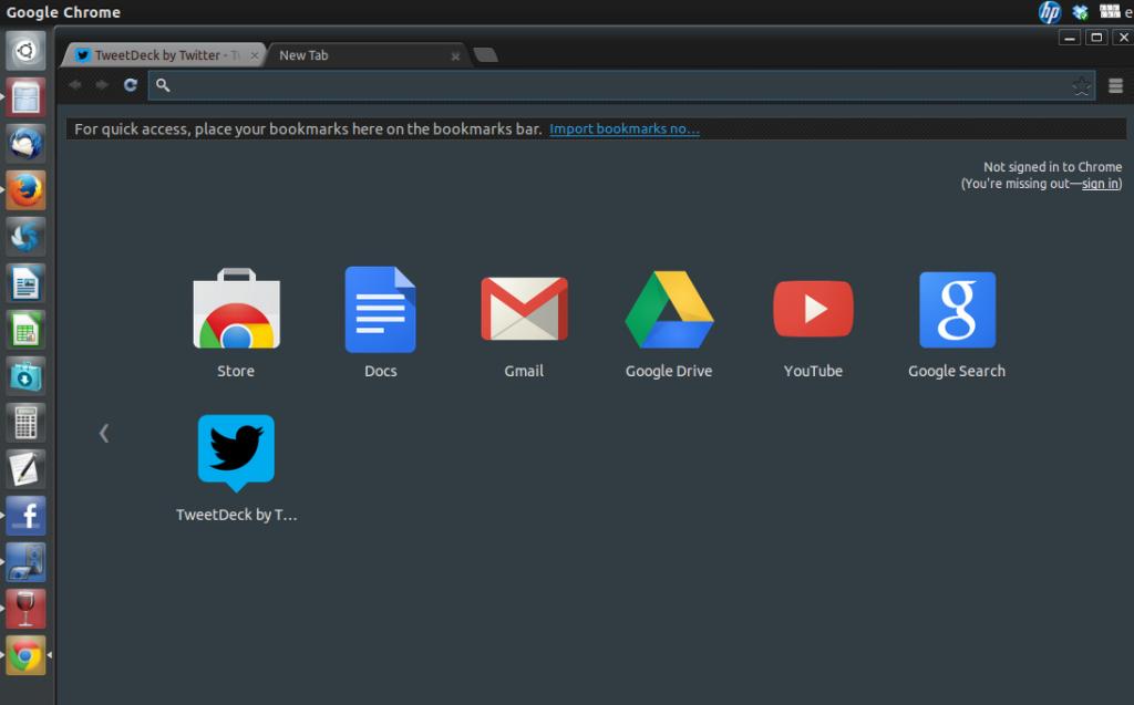 Chrome app tweet deck in Ubuntu