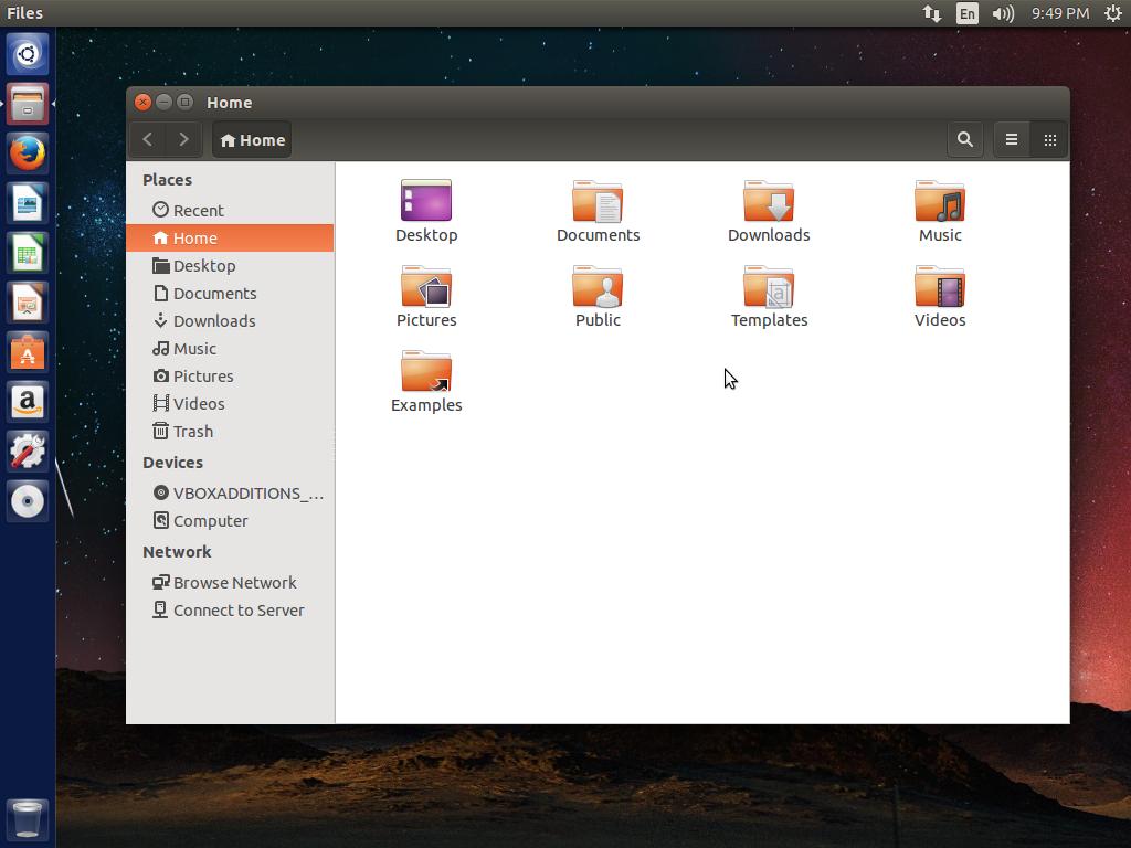 Ubuntu home folder