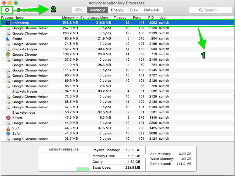 activity monitor mac osx speed