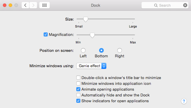 Doc resize mac