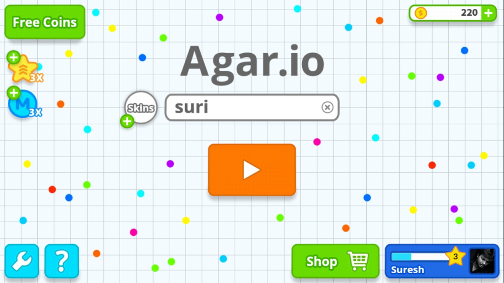 02 Agar.io name pick