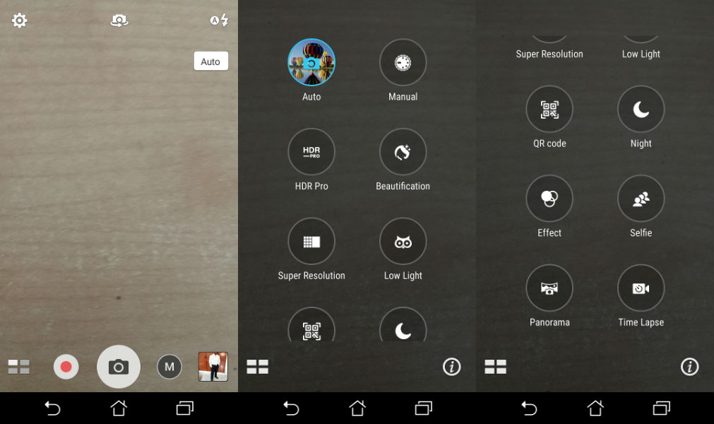 Asus ZenFone 3s Max Camera UI