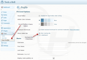 Wordpress 3.1 Disable admin bar