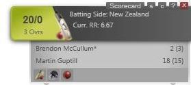 Cricket ticker