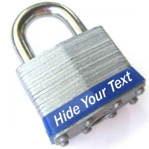 Hide your text Lock