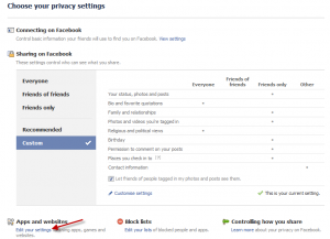 how to remove facebook apps step 2