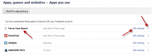 how to remove facebook application step 4