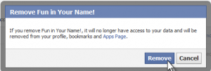 How to remove facebook application step 6