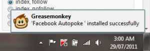Greasemonkey notification