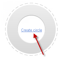 Create Circle in google plus