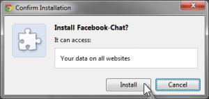 Facebook chat script installed