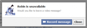 Facebook Record message