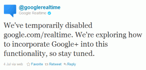 Google Real Time Tweet