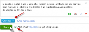 how to invite peoples in google plus