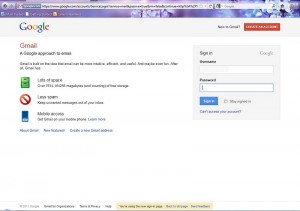 Gmail New sign in page
