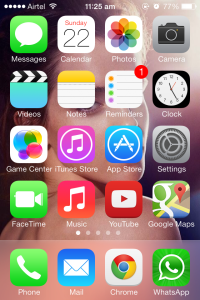 iOS7 Home Screen