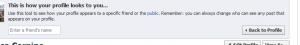 Privacy of facebook timeline