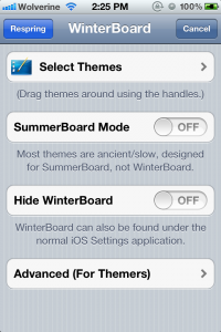 Winderboard Settings