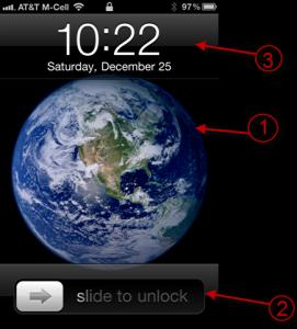 iphone lock screen structure