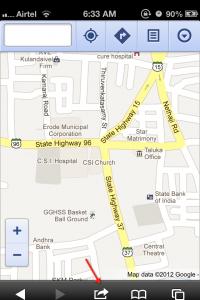 Google Maps iOS 6 Step 1