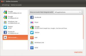 Add Online Accounts to the Ubuntu
