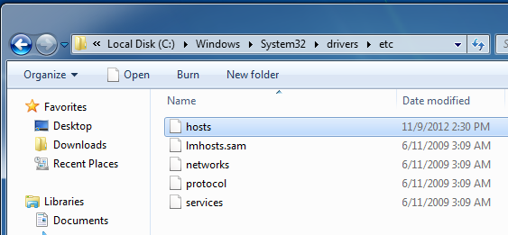 Host File in Windows