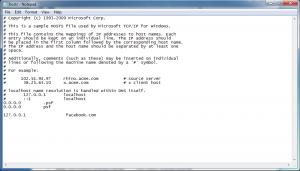 Host File in Windows