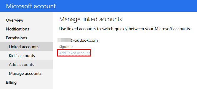 manage linked account settings