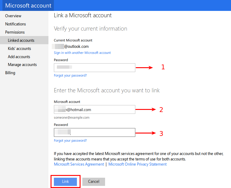 Sync hotmail account with outlook