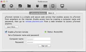 UTorrent Remote Setup