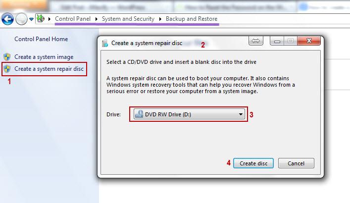 Create system Repair disk