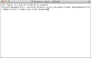 Show Hidden Files in Mac