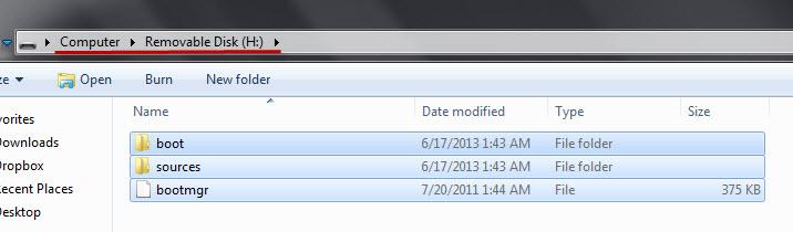 Windows Repair disk content in USB