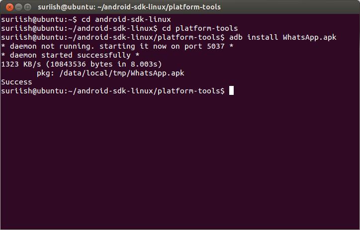 install apk application in ubuntu
