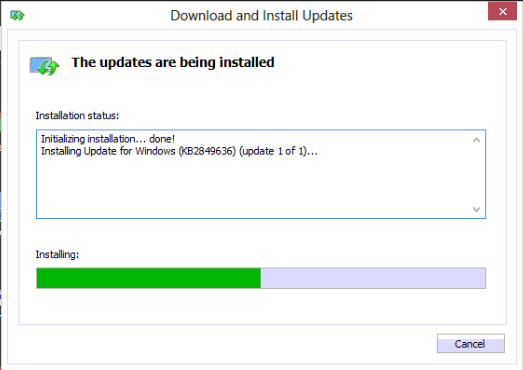 005 windows 8 update installer