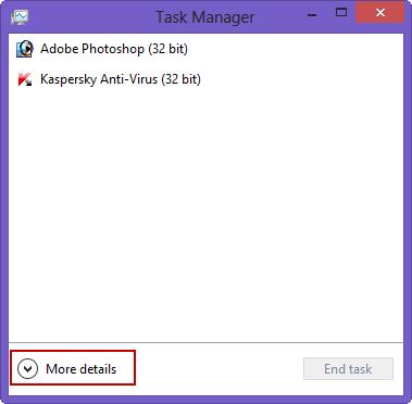Taskmanager windows 8