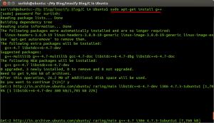 G plus plus compiler in ubuntu