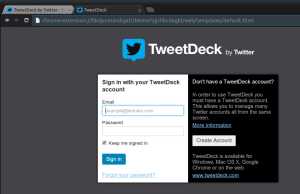 tweetdeck login Ubuntu