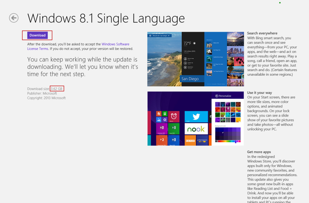 Download windows 8.1 from appstore
