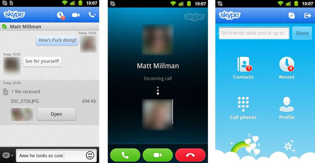 skype in android