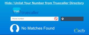 Hide unlist Phone Number from Truecaller