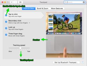 mac tracking pad settings, mac tweeks