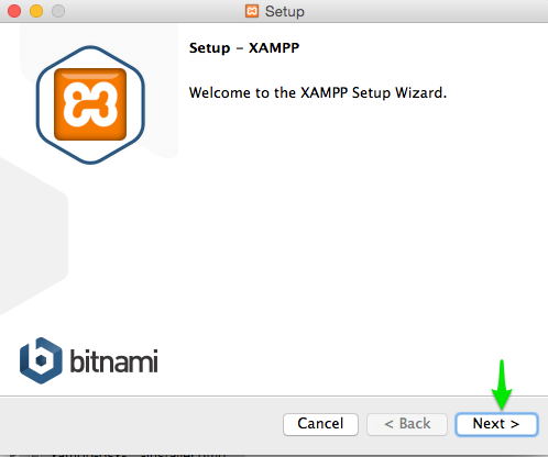 setup step xampp in mac