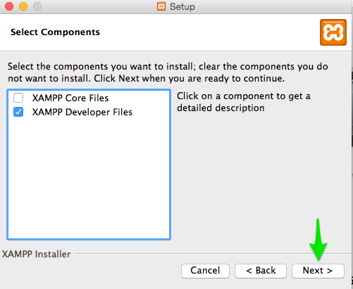 steps to install xampp in mac