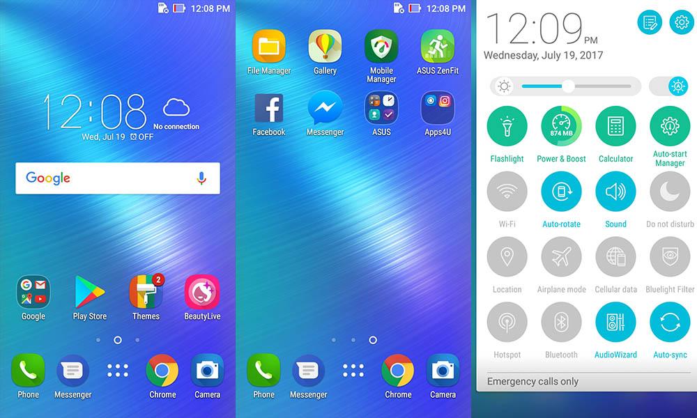 Asus ZenFone Live UI